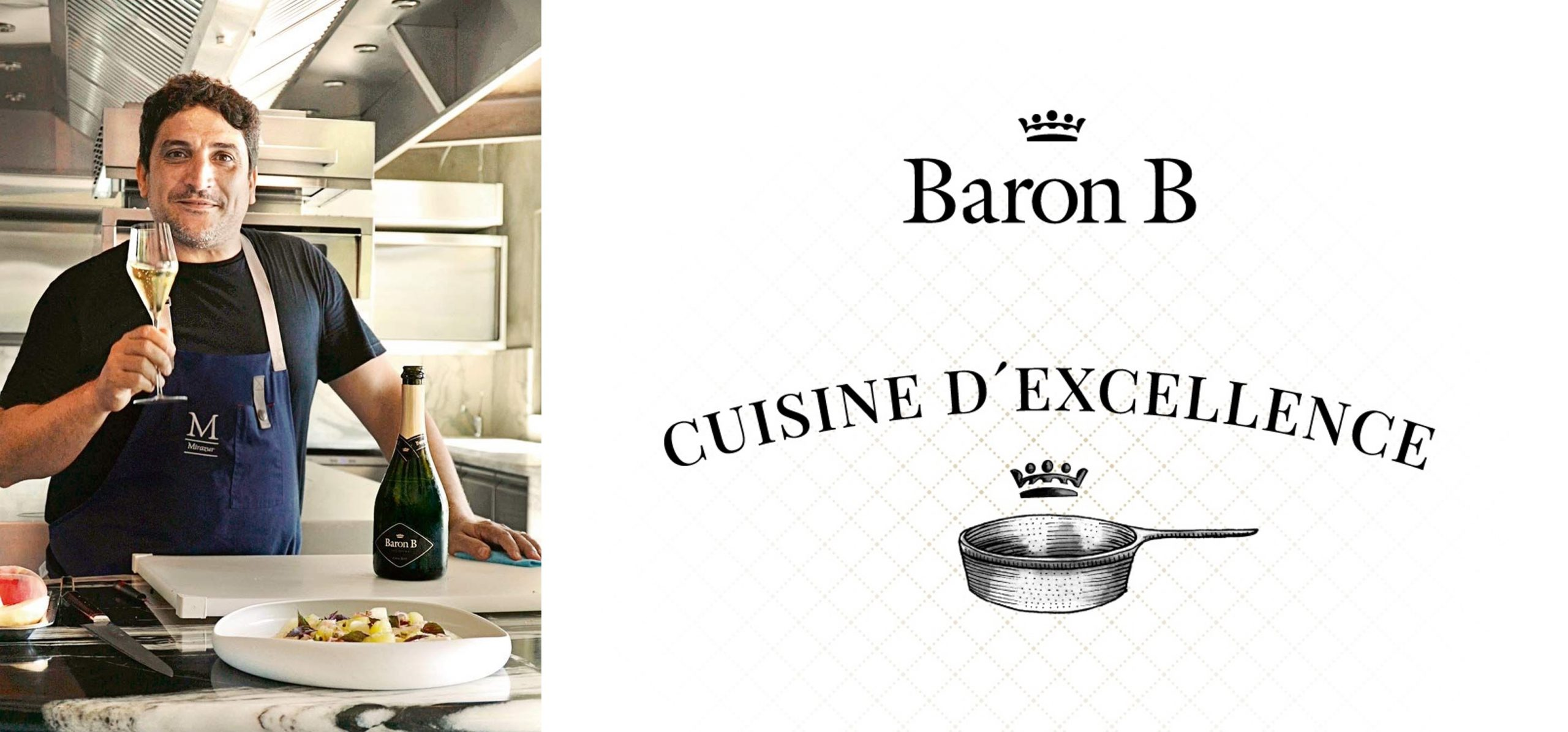 Mauro Colagreco presentó su plato para los ciclos de Baron B – Cuisine D´Excellence
